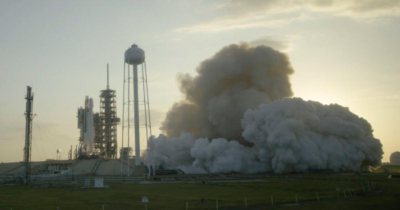Falcon 9 EchoStar 23 Static Fire Test