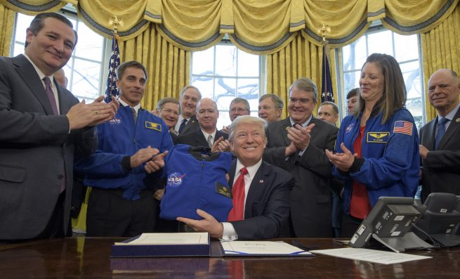 NASA Transition Authorization Act 2017 signing