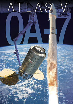 United Launch Alliance Atlas V 401 rocket with Orbital ATK OA-7 Cygnus being berthed to the International Space Station image courtesy of ULA