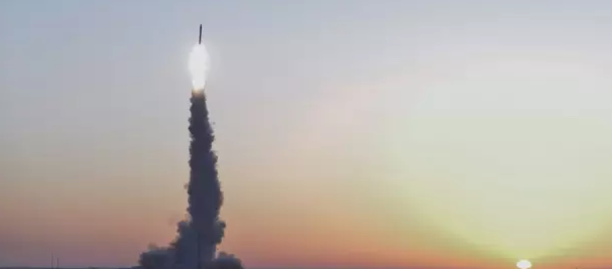 The launch of Kaituozhe-2 just after sunrise local time. Photo credit: China Aerospace Science and Industry Corporation (CASIC)