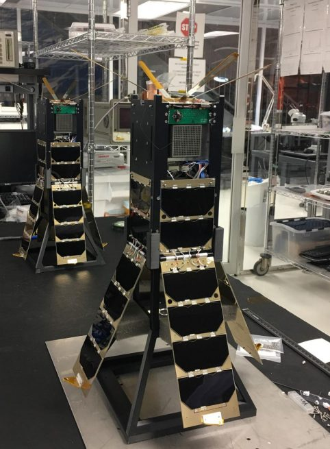 CXBN-2 Flight and Engineering Units in the Morehead State University Space Science Center Spacecraft Integration and Assembly Facility.