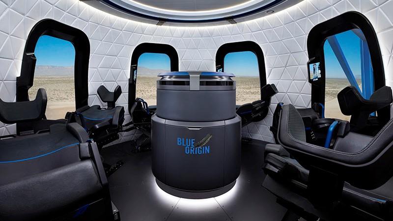 New Shepard capsule interior