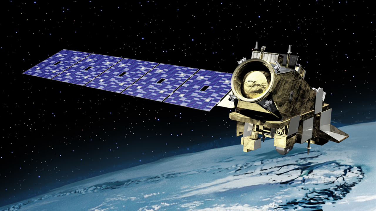 Artist's depiction of JPSS-2 satellite on orbit. Image Credit: Orbital ATK