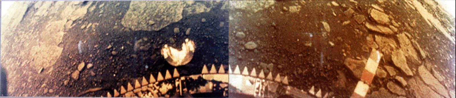 Venera 13 Venus landing image