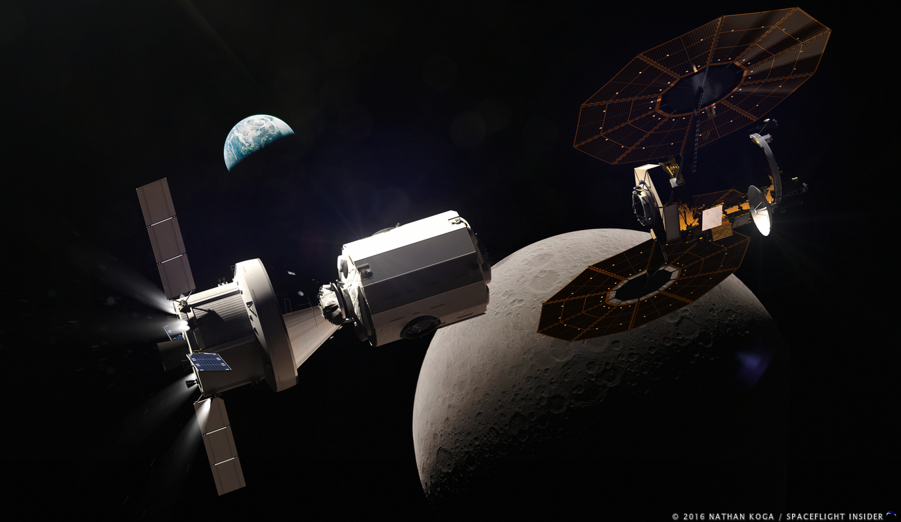 NASA has plans for a deep space gateway situated in cislunar space as the next step on its path to get humans beyond low-Earth orbit. Image Credit: Nathan Koga / SpaceFlight Insider