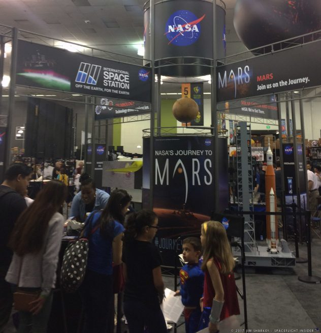 NASA's display at Silicon Valley Comic Con. Photo Credit: Jim Sharkey/SpaceFlight Insider