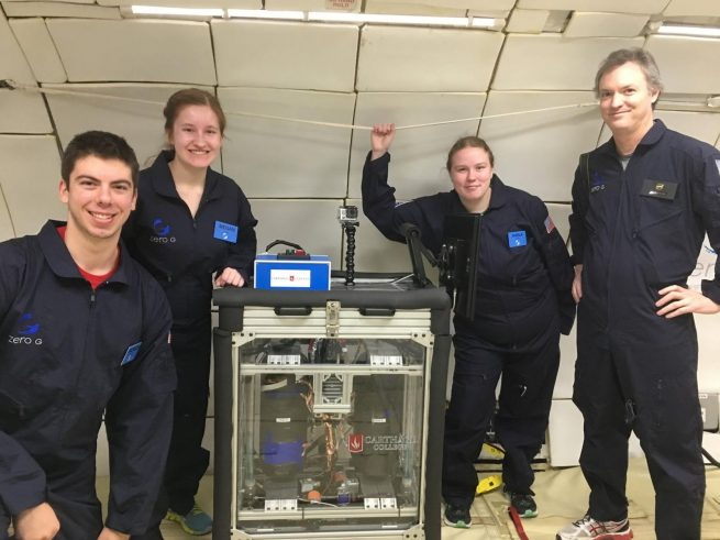 Measuring Propellant Levels in Low Gravity, Carthage College. Photo Credit: ZERO-G