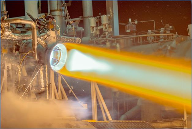 Aerojet Rocketdyne recently conducted the first successful test of a full-scale 3-D printed thrust chamber for their RL10 engine.