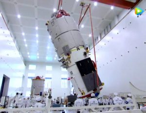 Tianzhou-1 being processed for launch