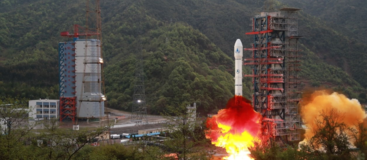 China's Long March 3B/E lifts off the pad at the Xichang Satellite Launch Center to deliver the ChinaSat-16 telecommunications satellite to geostationary transfer orbit. Photo credit: Wei to via zf.81.cn