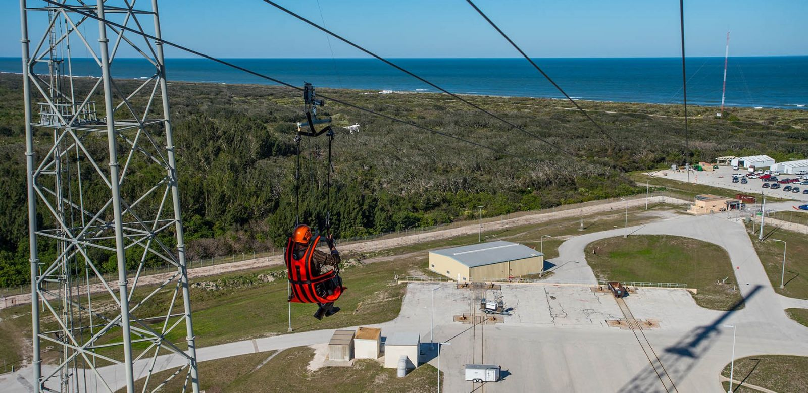 ULA has completed testing of its Emergency Egress System at Cape Canaveral's Space Launch Complex 41 in Florida. Photo Credit: ULA