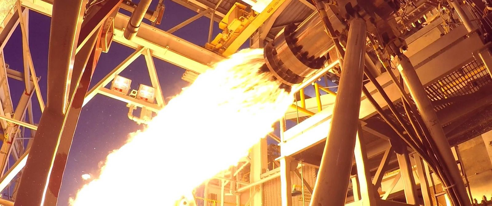 Aerojet Rocketdyne tests a portion of its AR1 engine at NASA's Stennis Space Center in Mississippi. Photo Credit: Aerojet Rocketdyne