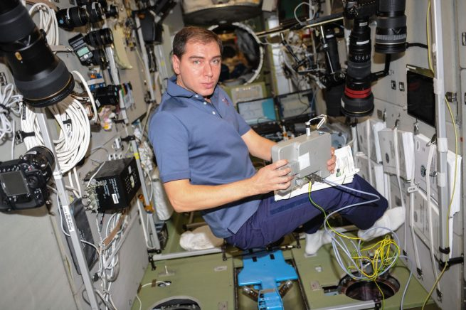 Sergey Volkov during Expedition 45