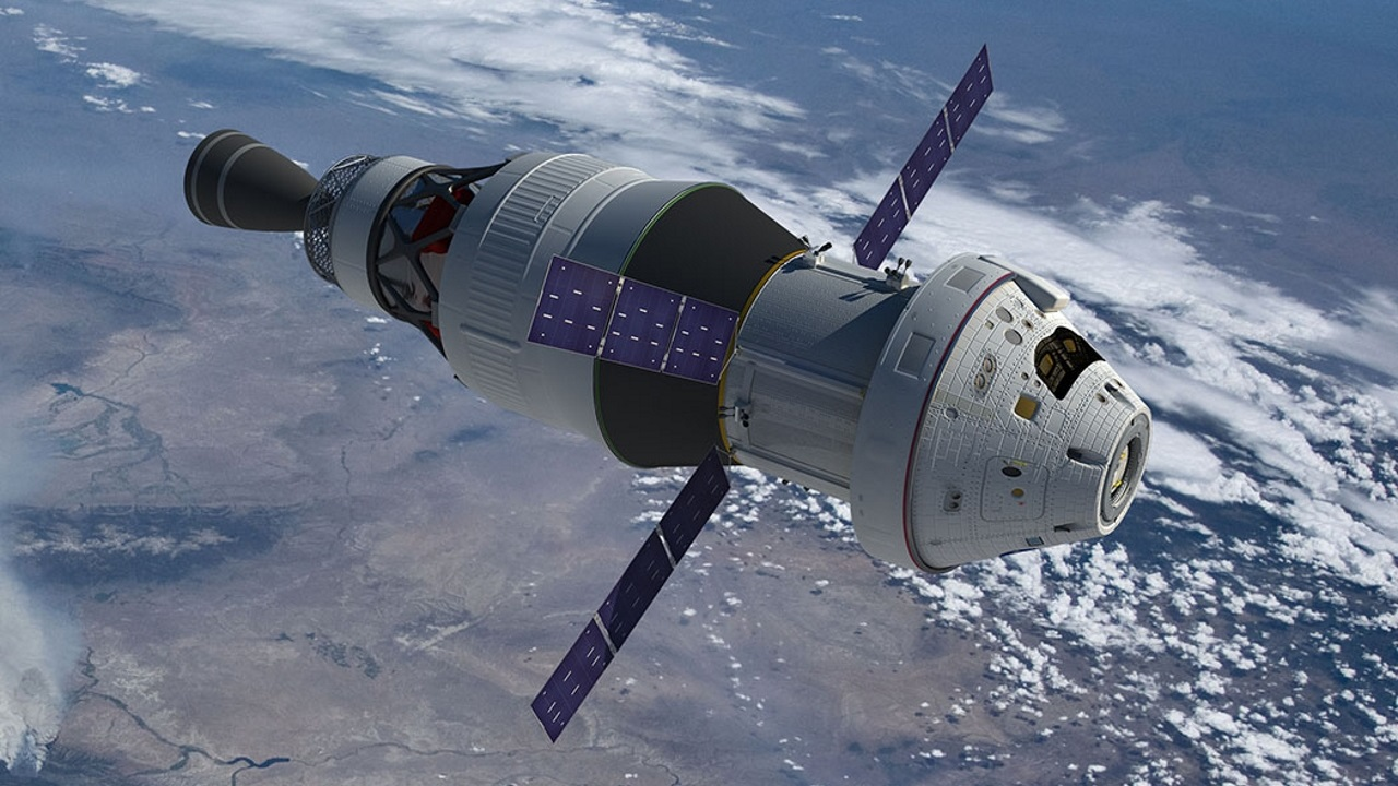 The LEMNOS project will provide laser communications services to NASA's Orion vehicle, shown in this artist concept.