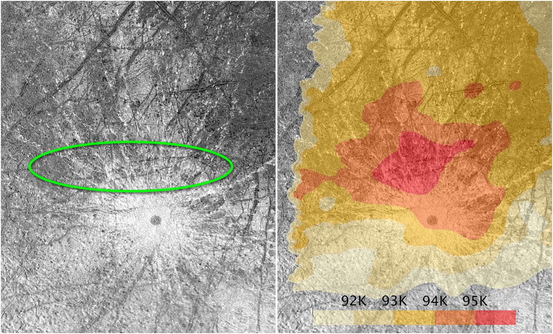 Plume on Enceladus