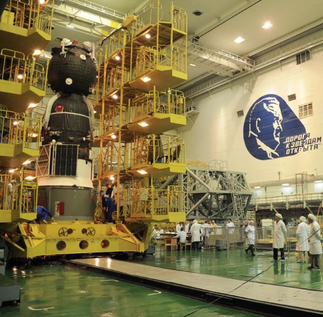 Soyuz-FG / Soyuz MS-04 encapsulation