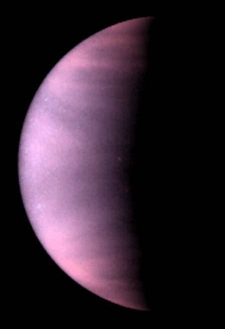 CubeSat mission: Venus seen in ultraviolet light by the Hubble Space Telescope.