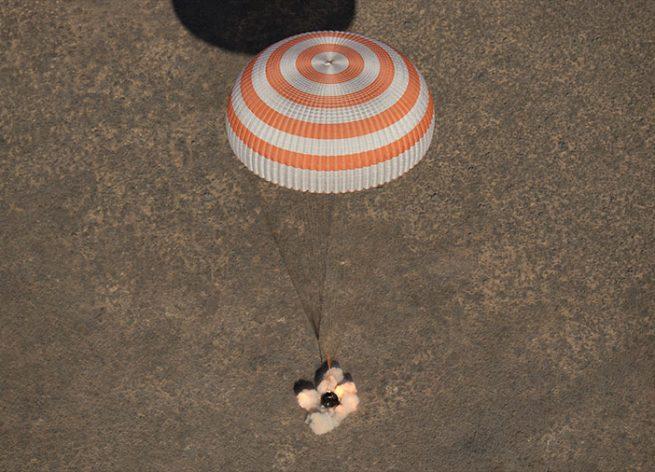 Soyuz MS-02 lands