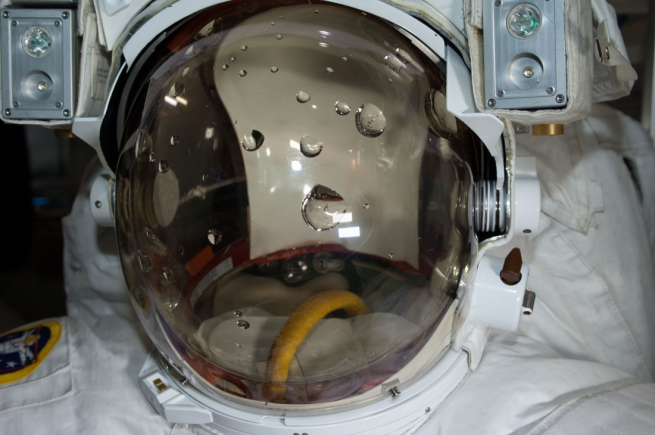 Water leak in spacesuit