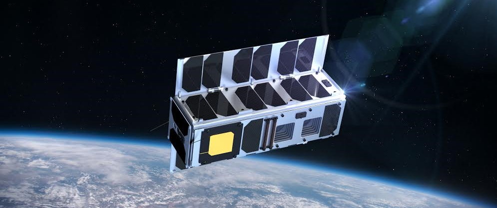 Artist's rendering of the ESTCube-2 in space