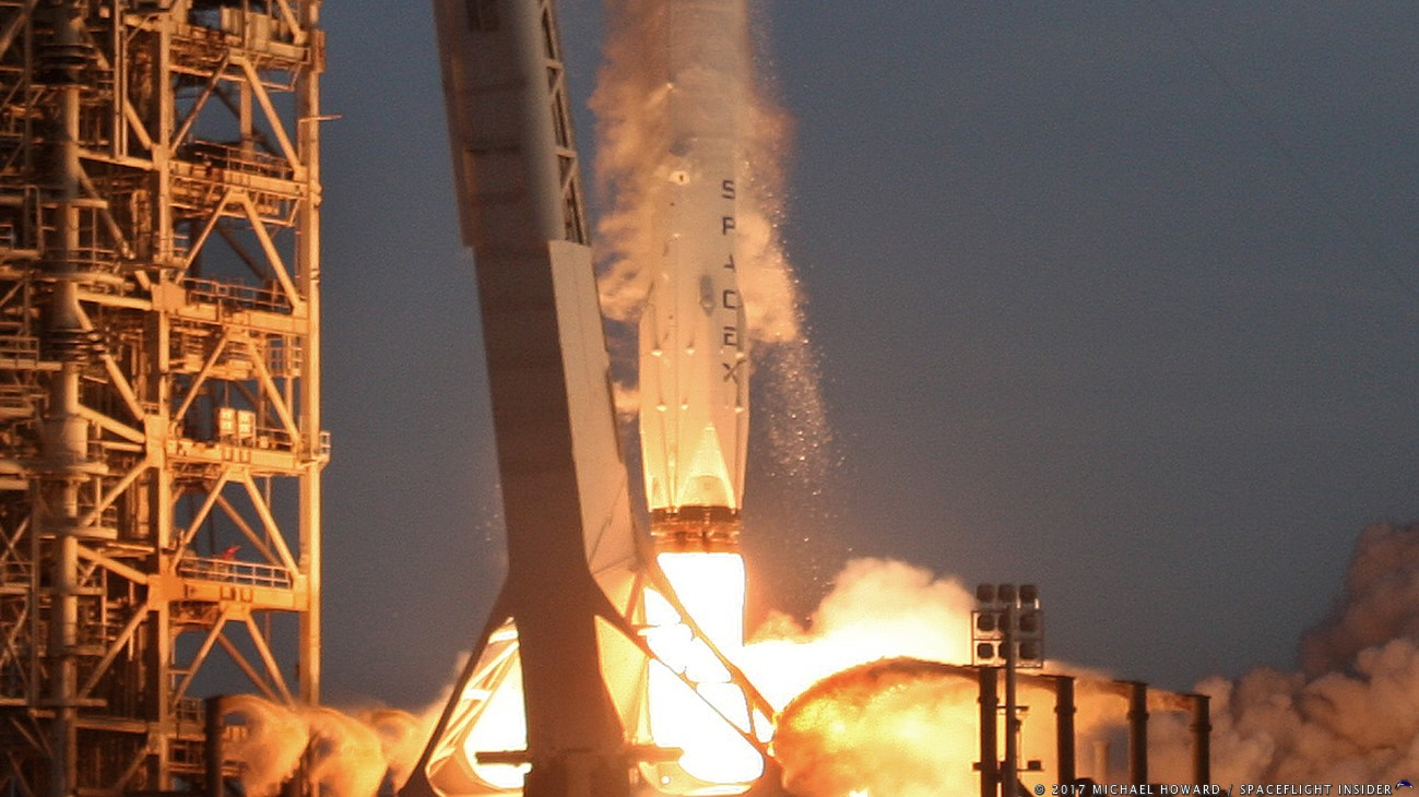 SpaceX launches its 33rd Falcon 9 since 2010. This was the NewSpace firm's first dedicated launch for the National Reconnaissance Office. Photo Credit: Michael Howard / SpaceFlight Insider