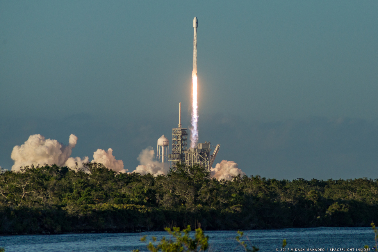 SpaceX launches expendable Falcon 9 with Inmarsat-5 F4. Photo Credit: Vikash Mahadeo / SpaceFlight Insider