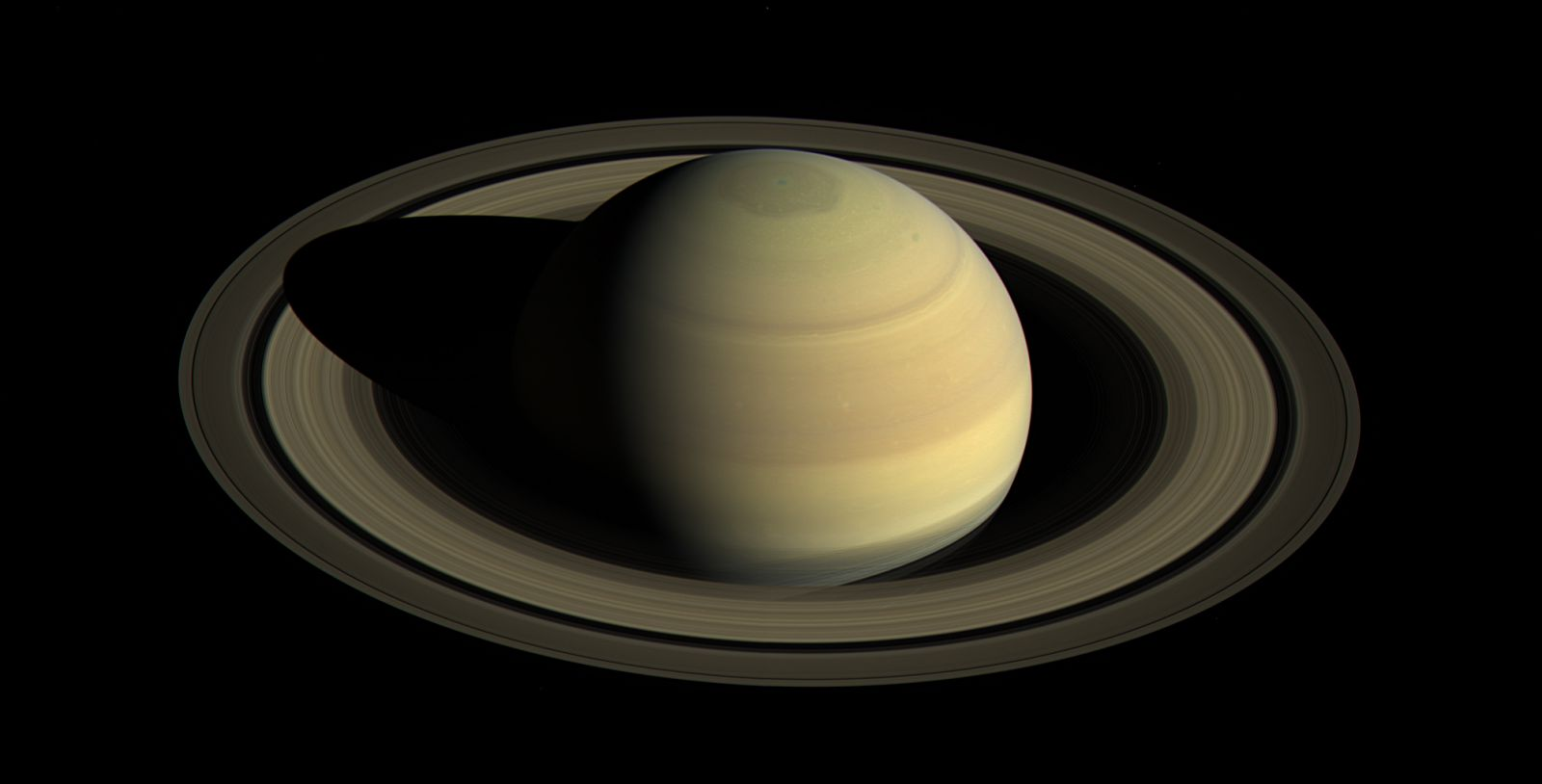Cassini image of Saturn in 2016