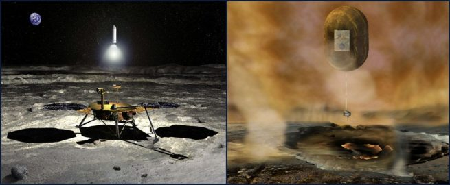 New Frontiers missions: Lunar Sample Return and Venus In-Situ Explorer