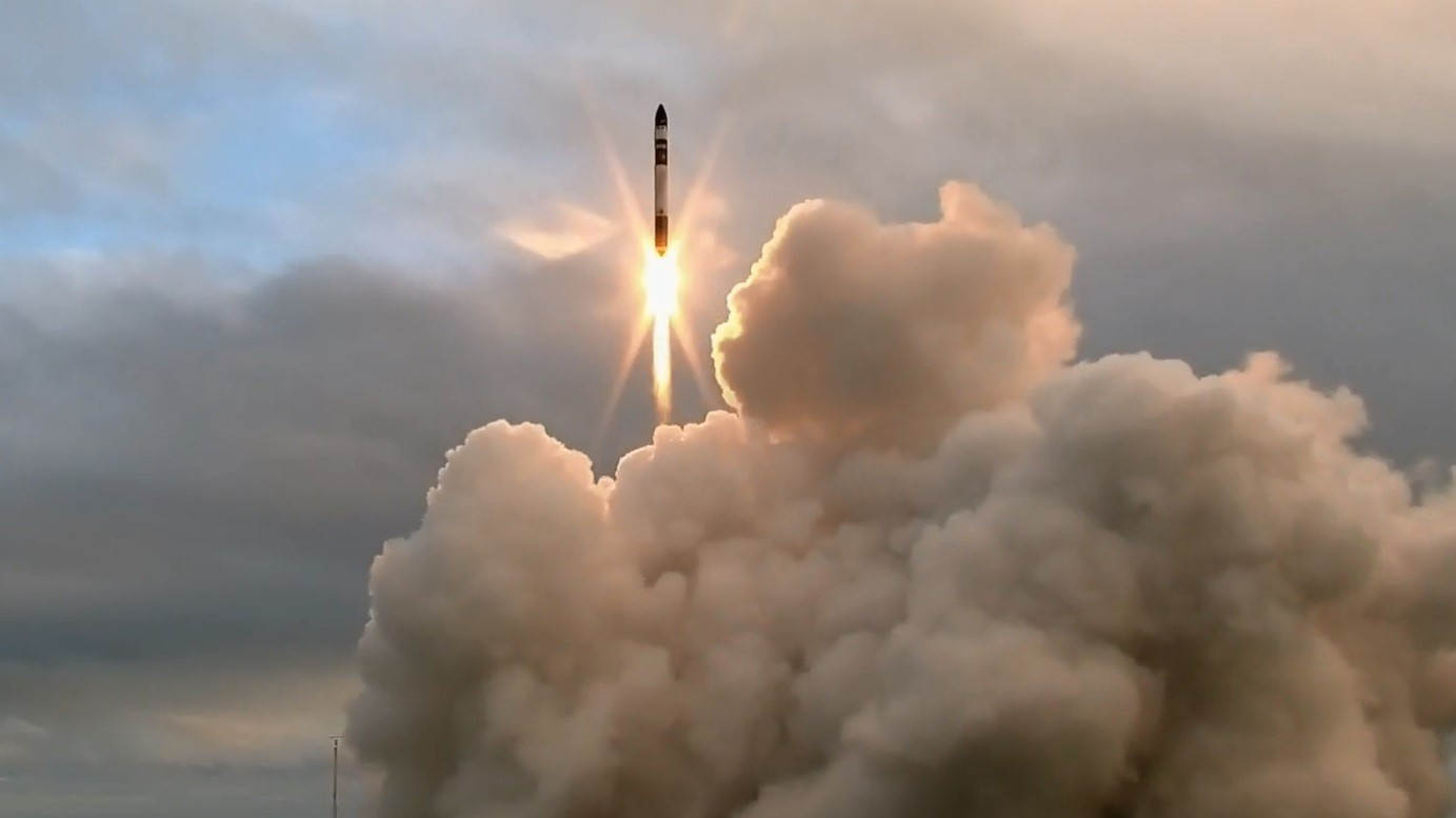 File photo of a previous Electron rocket launch. The March 28 flight orbited DARPA's R3D2 payload. Photo Credit: Rocket Lab