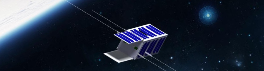 Artist's rendering of the nanosatellite PicSat.