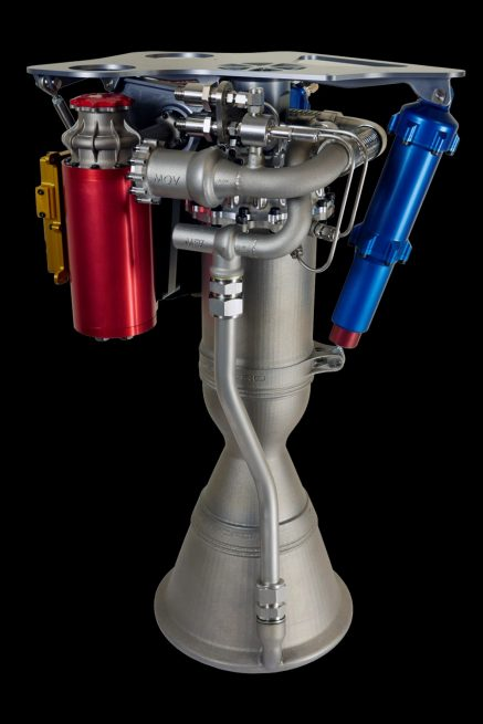 A Rutherford engine utilized on the Electron rocket