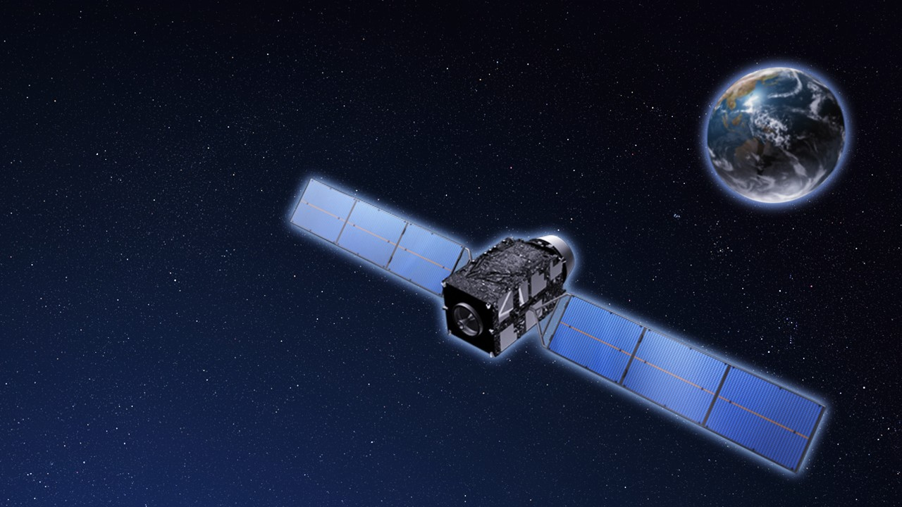 An artist's rendering of the Michibiki-1 satellite in orbit. It was the first satellite launched as part of Japan's regional navigation system. The second satellite, Michibiki-2, is set to launch May 31, 2017. Photo Credit: JAXA