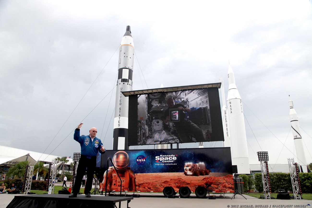 Former NASA astronaut Scott Kelly detailed what he had to do to become an astronaut with NASA during an event held on Monday, June 5. Photo Credit: Mike Howard / SpaceFlight Insider