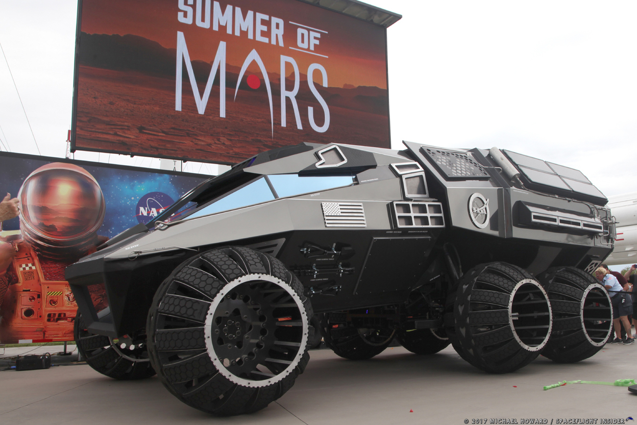 Mars Concept Rover produced by Parker Brothers Concepts at the Kennedy Space Center Visitor Complex. Photo Credit: Mike Howard / SpaceFlight Insider
