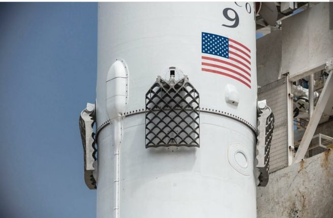 The Falcon 9 used for the Iridium-2 mission sported upgraded titanium grid fins, replacing the aluminum design that frequently caught fire during reentry. Photo Credit: SpaceX