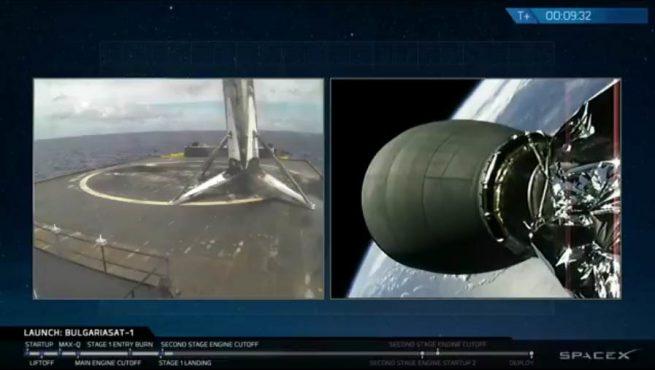 Bulgariasat-1 landing image credit SpaceX