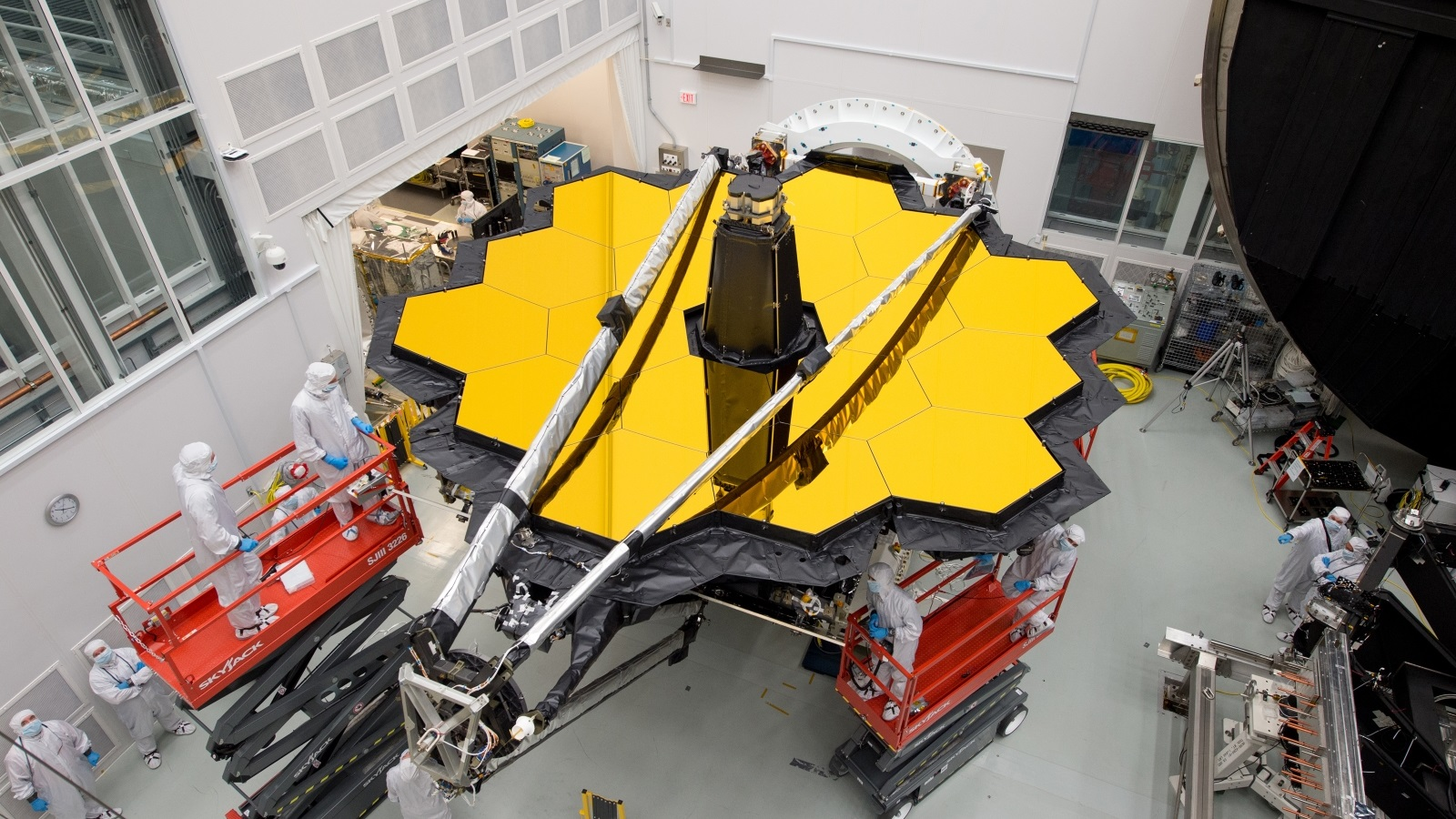 JWST outside Chamber-A NASA's JSC