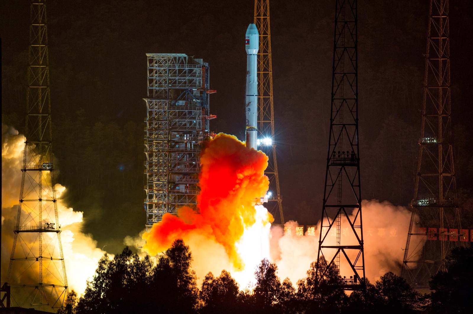 Long March 3B/E launch with LaoSat-1
