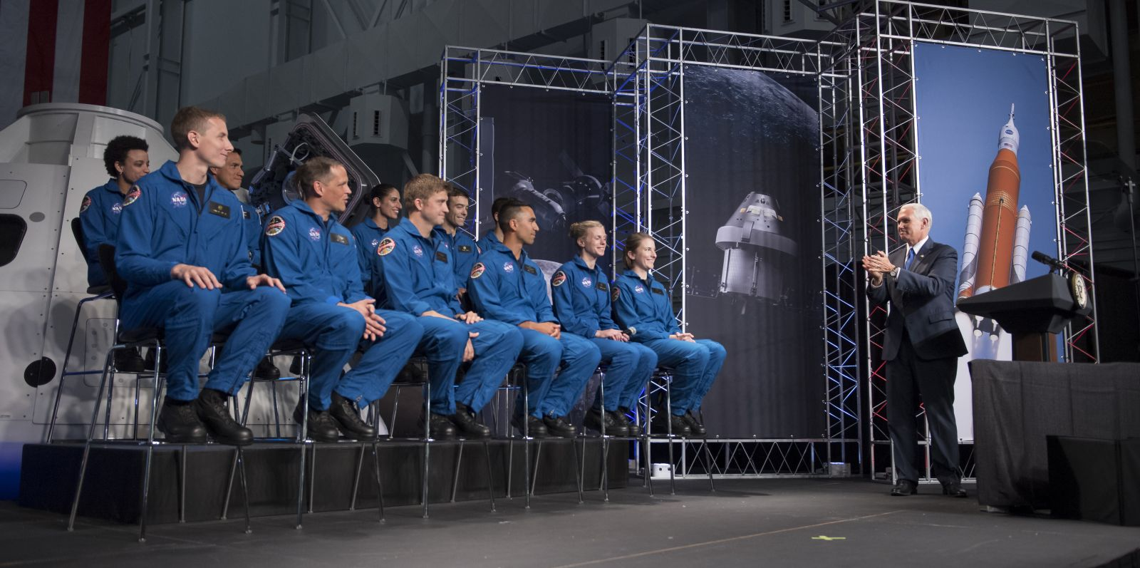 Twelve astronaut candidates were selected - out of 18,300 applicants. Photo Credit: Bill Ingalls / NASA