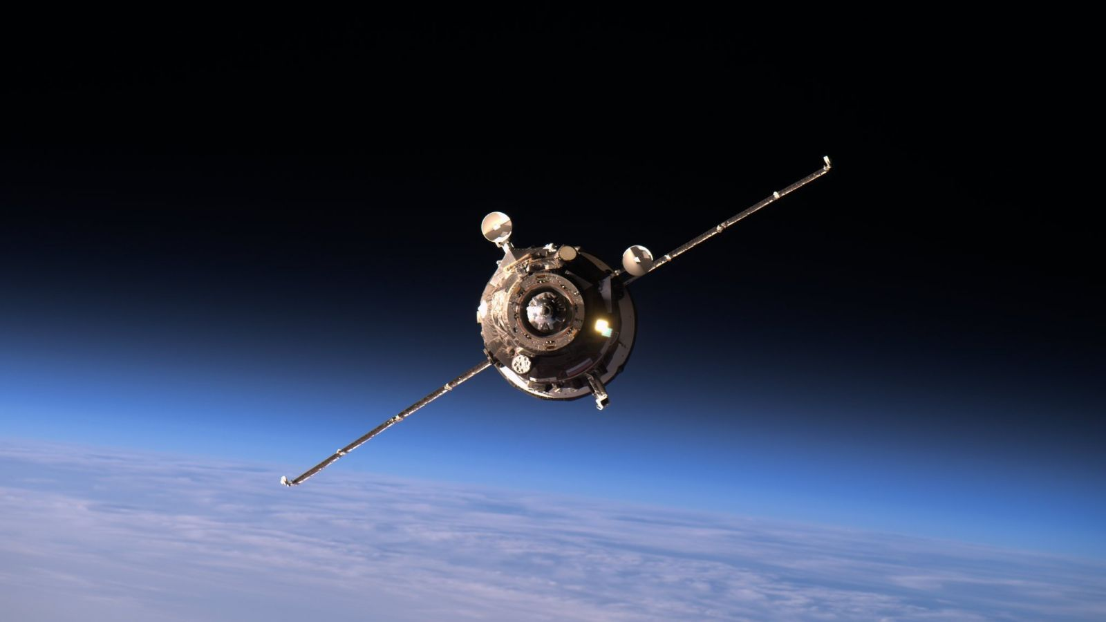 A file photo of Progress MS-02 on final approach to the Zvezda service module in April 2016. Photo Credit: NASA