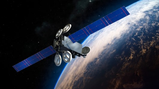 An artist's rendering of Intelsat 35e. Image Credit: Boeing