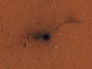Schiaparelli impact site. Image Credit: NASA/JPL-Caltech/University of Arizona