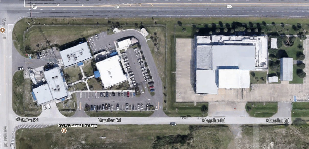 On July 16, 2017, a SpaceX building at Port Canaveral was reported to have had a fire on its rooftop. The small fire was quickly extinguished by firefighters. Photo Credit: Google Maps