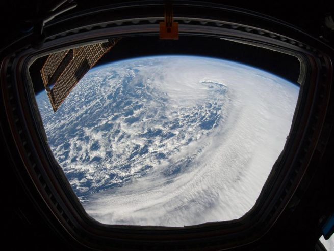 AMC-9: NASA image taken from the International Space Station. Photo Credit: NASA