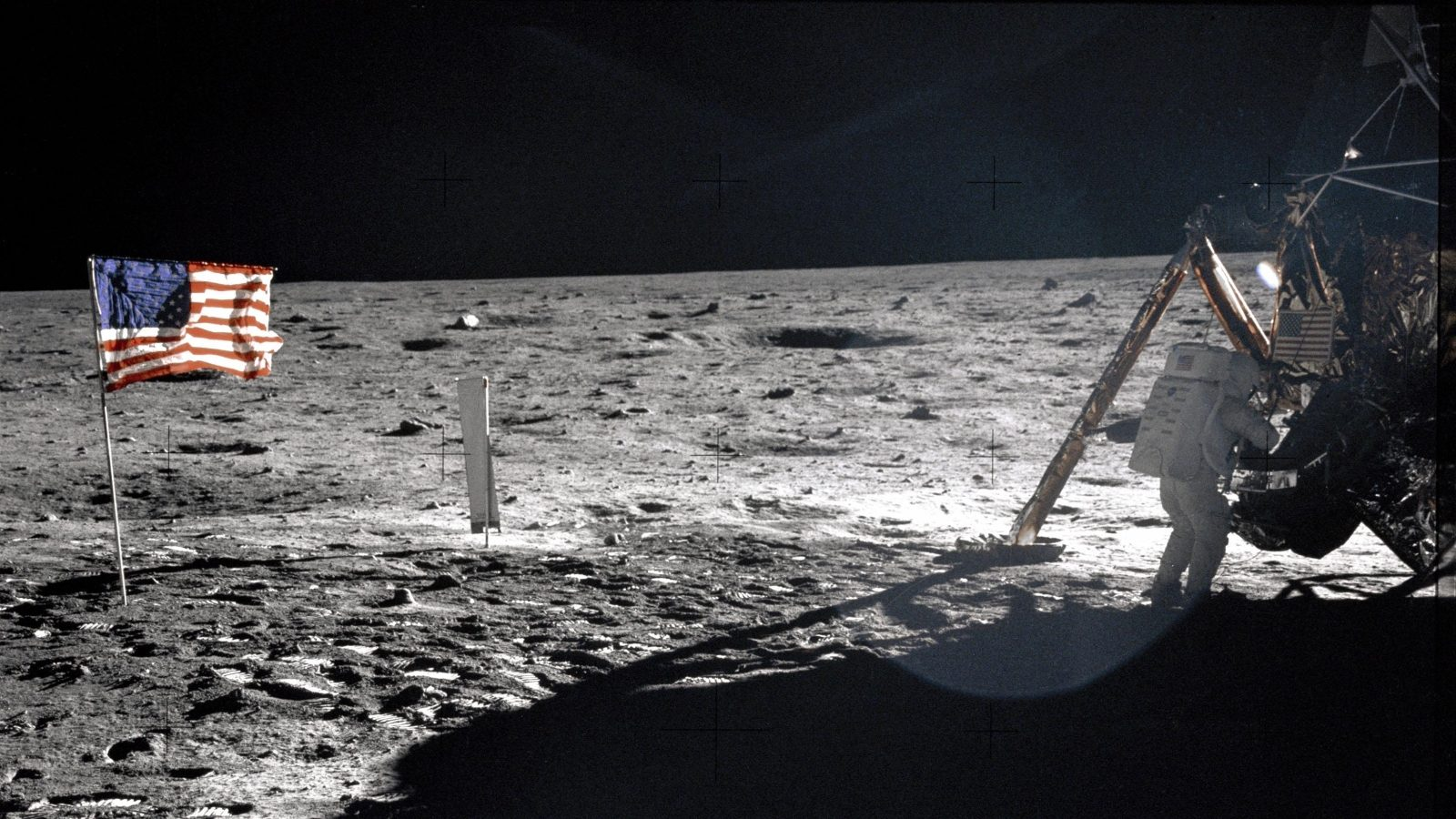 A photograph of Armstrong near the Apollo 11 LM