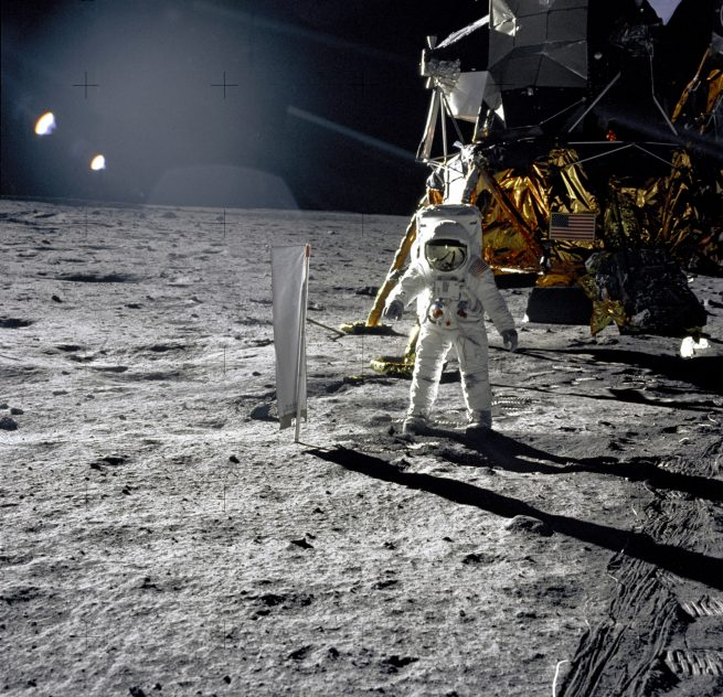 Buzz Aldrin on an Apollo 11 moonwalk. Photo Credit: NASA
