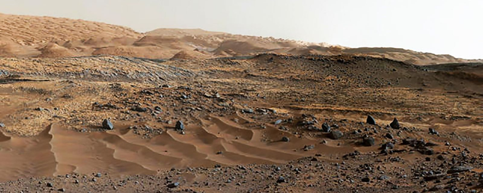 Martian dust: Martian geology as viewed by Curiosity rover