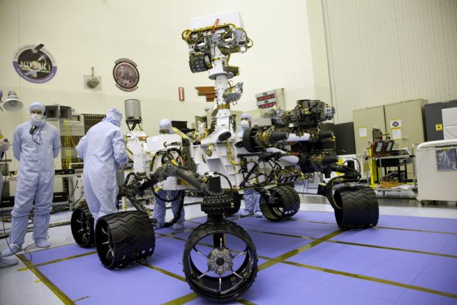 NASA's Mars Science Laboratory rover Curiosity NASA photo posted on SpaceFlight Insider