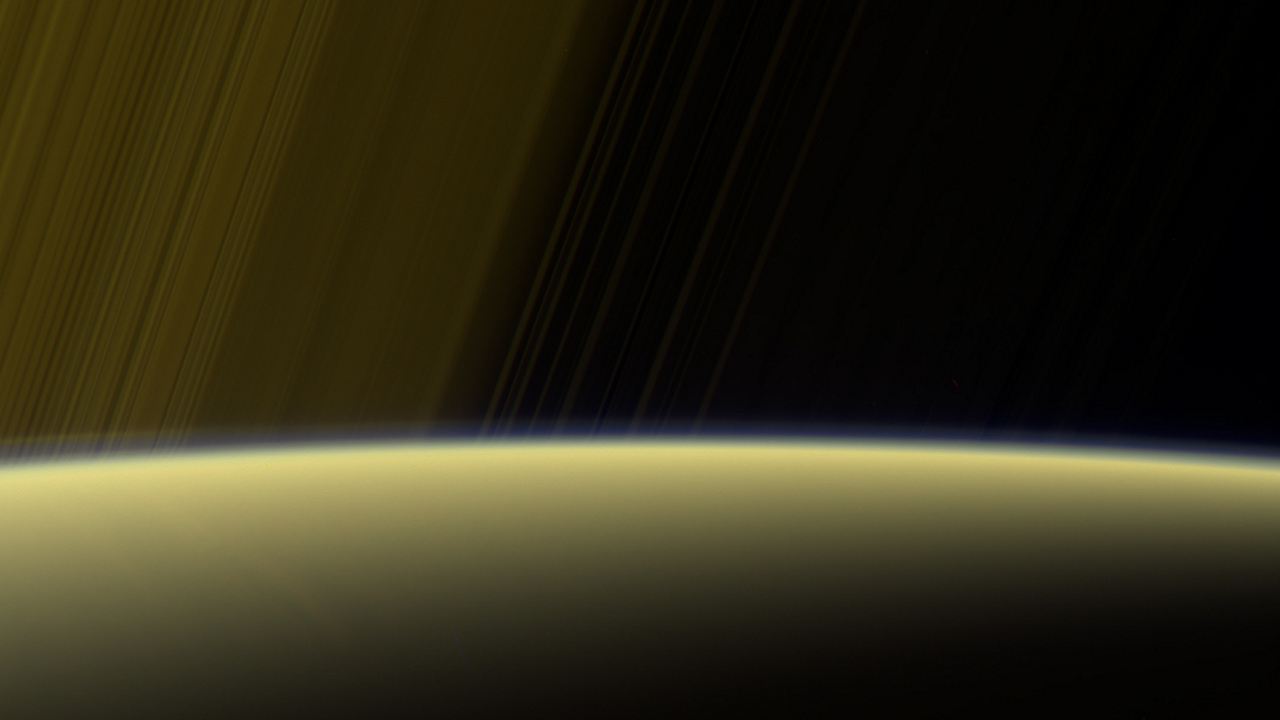 Grand Finale: Haze on Saturn's horizon