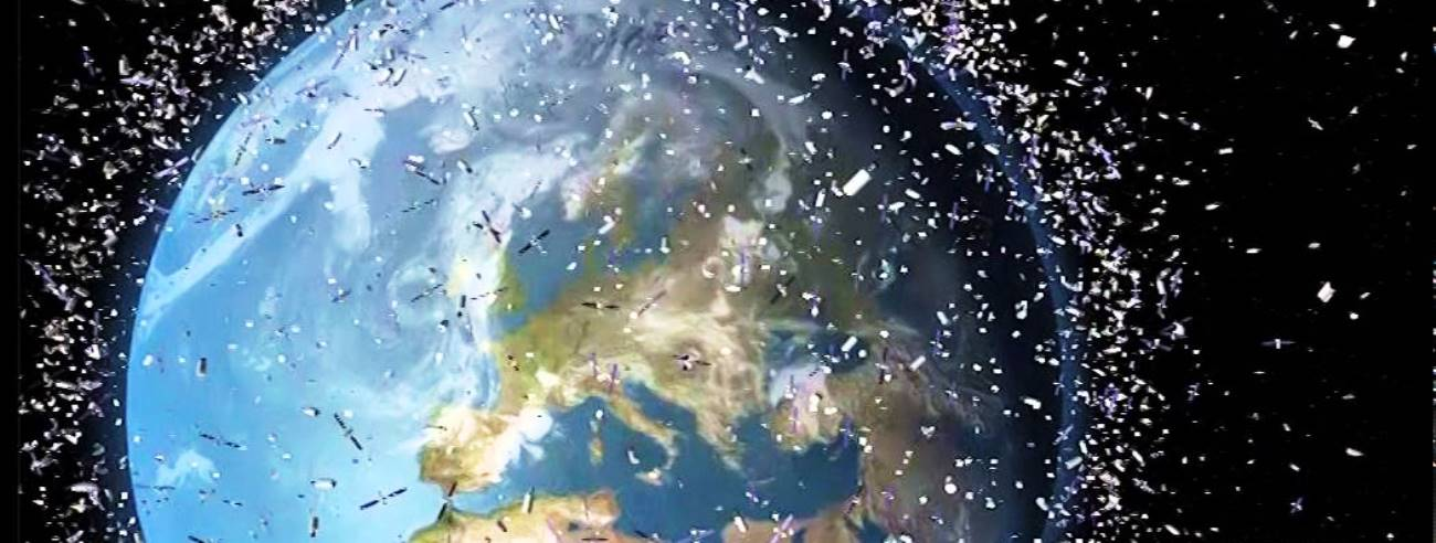 AMC-9: Space debris in orbit above Earth European Space Agency image